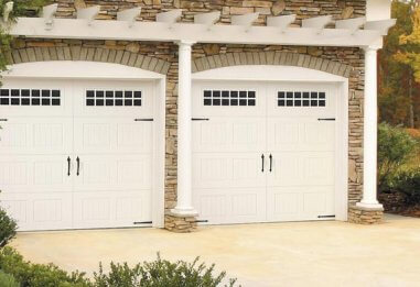 Amarr Oak Summit collection, Carriage house style, Steel garage door