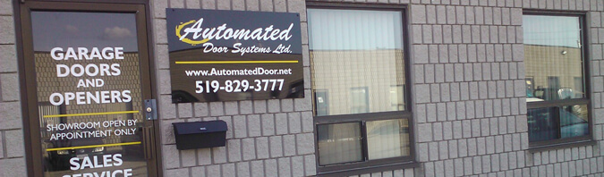 Automated Door Systems front store in Guelph